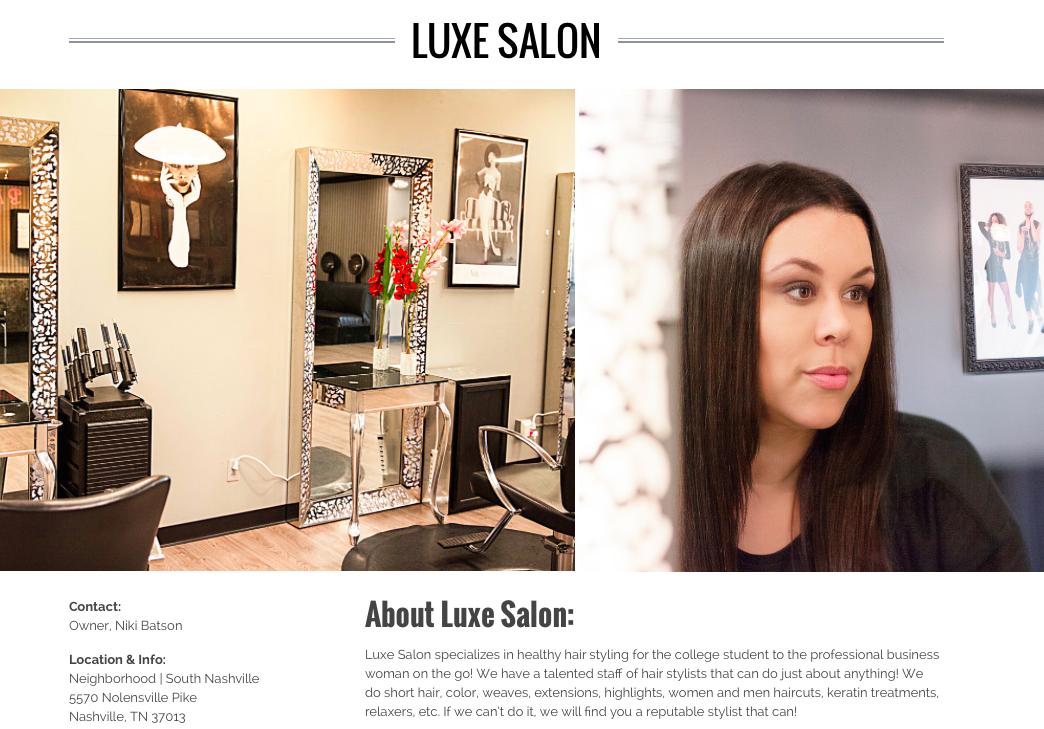 Meet Our Newest Urbaanite Member: Luxe Salon