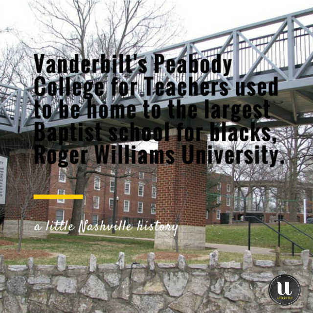A Little Nashville History: Vanderbilt's Peabody College for Teachers