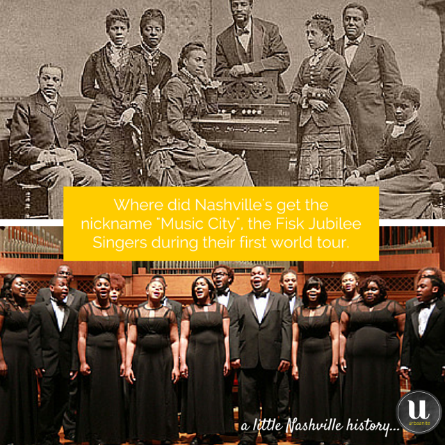 A Little Nashville History: Fisk Jubilee Singers & Music City